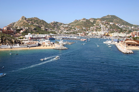 A beautiful veiw of the port of Cabo San Lucas, Mexico Stock Photo