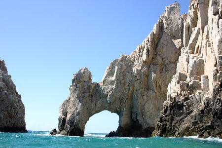The rock formation called Los Arcos at Cabo San Lucas, Mexico Stock Photo