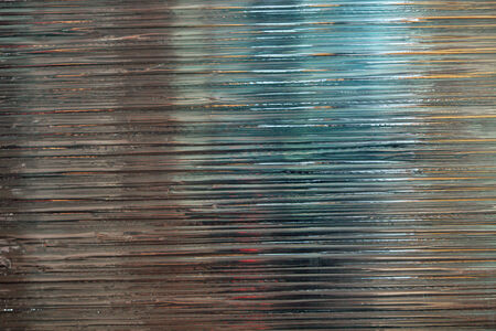 A silver textured wall with abstract lines Stock Photo