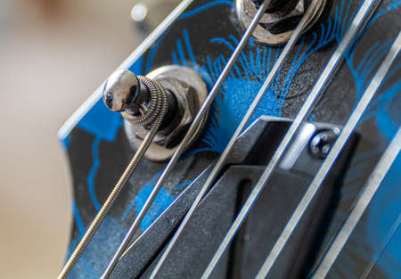 electric guitar tuning post worm gear 스톡 콘텐츠