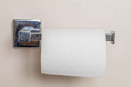 Toilet paper running out on chrome hanger