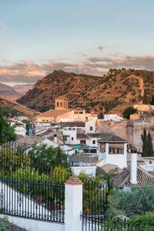 View over Sacromonto, Granada, Spain