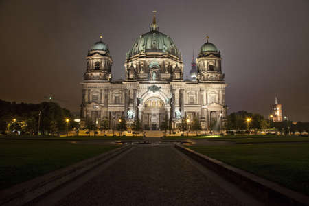 The Berliner Dom with the TV Tower in the background.  Berlin, Germany. Stock Photo - 7757944