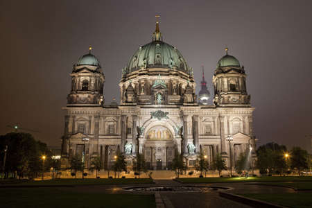 The Berliner Dom with the TV Tower in the background.  Berlin, Germany. Stock Photo - 7757927