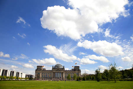 A view of the Reichstag and the sky above - Berlin Stock Photo - 7757843