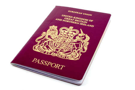 UKBritish Passport Stock Photo