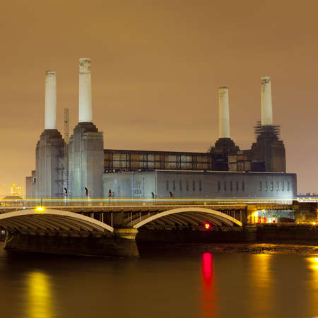power station: Battersea Power Station at Night