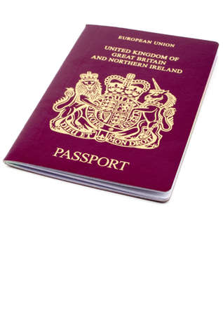 the sovereign: UKBritish Passport Stock Photo