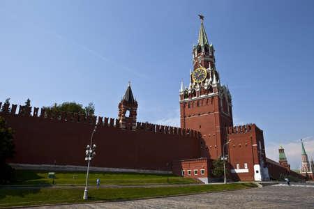 spasskaya: Spasskaya Tower (The Kremlin) in Moscow Stock Photo