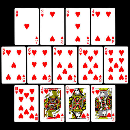 cards poker: The set of 13