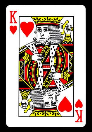 jeu de carte: Le roi des coeurs de cartes � jouer