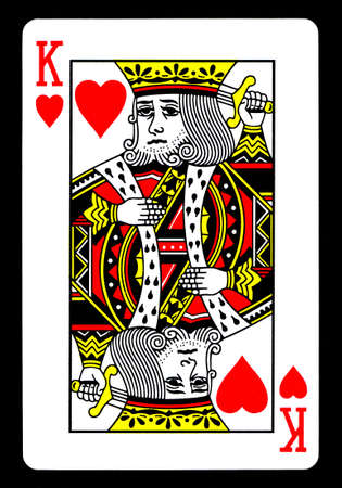 The King of Hearts Playing Card Stock Photo - 10520649