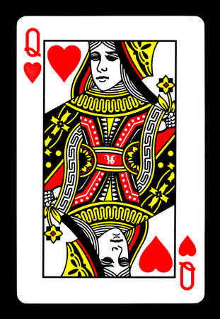 The Queen of Hearts Playing Card.