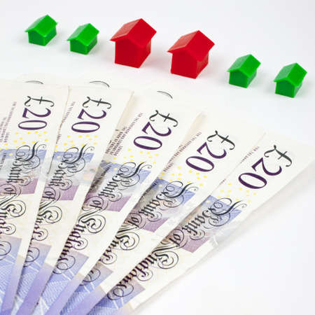 monopoly money: Investment in Property Stock Photo
