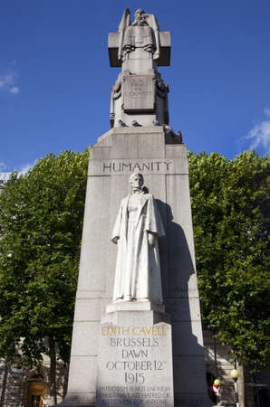 edith: A StatueMonument for famous British Nurse Edith Cavell who died during the 1st World War.