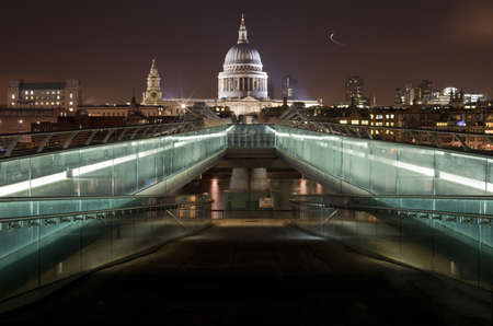A view of St Pauls Cathedral from the Millennium Bridge Stock Photo - 10520659