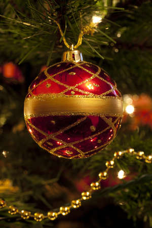 Bauble Decoration on Christmas Tree
