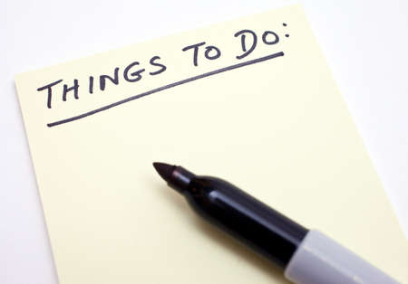 A Things To Do List