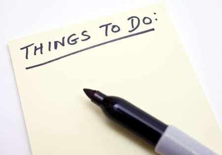 Una lista de las cosas que hacer