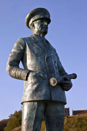dover: Sir Bertram Ramsay Statue at Dover Castle Editorial