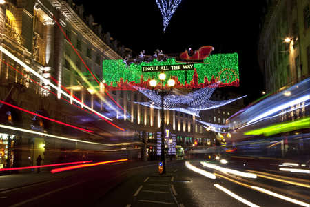 London Christmas Lights on Regents Street