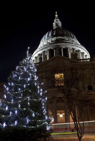 St. Pauls Cathedral at Christmas photo