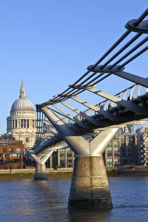 St Pauls at the Millennium Bridge photo