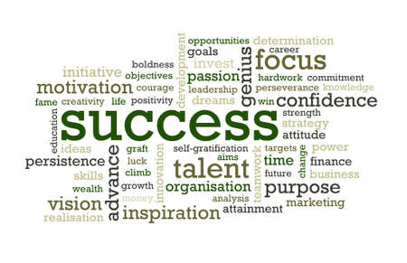 inspirerend: Succes Stockfoto