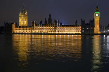 The Houses of Parliament at Night Stock Photo - 12376631