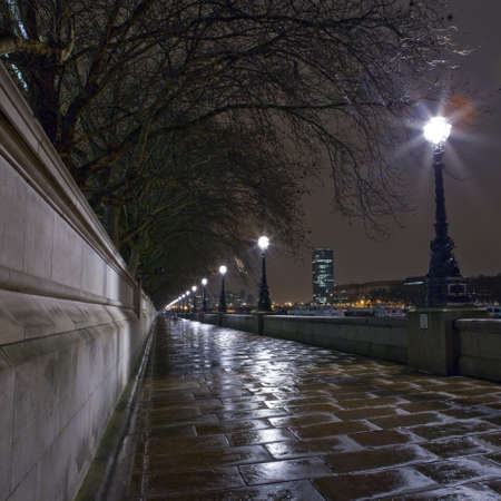 The Thames Path at Night Stock Photo - 12376623