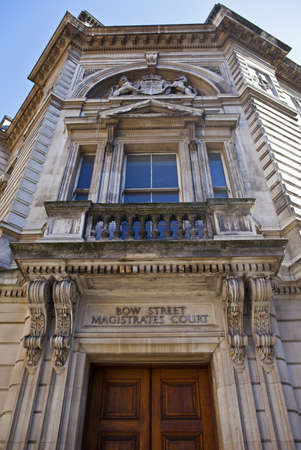 magistrates: The buiding of the former Bow Street Magistrates Court in London