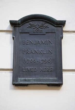 Benjamin Franklin House Stock Photo - 12914534