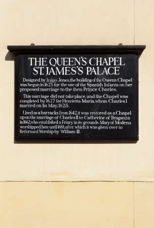 st james s: The Queens Chapel in London Editorial