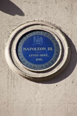 Blue plaque in King Street, London noting that Napoleon III once lived there  Stock Photo - 13096470