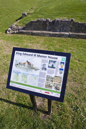 king edward: The remains of King Edward III Thames-side manor house in London  Editorial