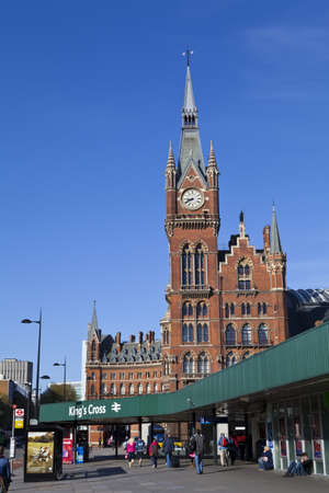 The magnificent architecture of Kings Cross station in London