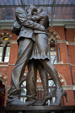 pancras: The Meeting Place Sculpture at St Pancras International Station in London
