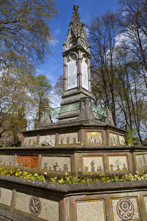pancras: The Burdett-Coutts Sundial at St Pancras Old Church in London. Stock Photo