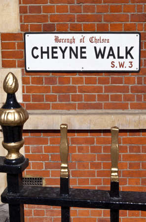 chelsea: The historic Cheyne Walk in Chelsea, London.