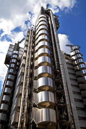 lloyd's: The fantastic Lloyds building in the city of London  Editorial