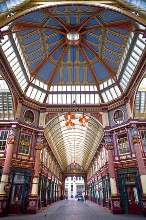 The magnificent Leadenhall Market building, designed by Sir Horace Jones