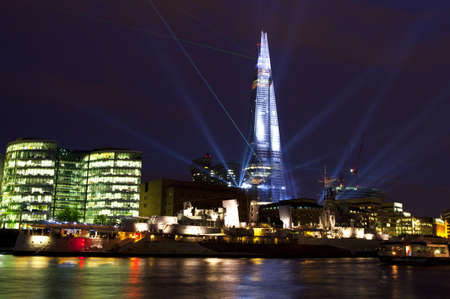 To commemorate the opening of The Shard (western Europes tallest building), a laser light show was held on 4th July 2012.