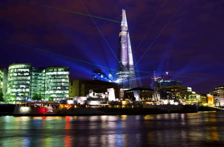 To commemorate the opening of The Shard (western Europes tallest building), a laser light show was held on 4th July 2012. photo