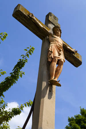 A Crucifix Monument at Kirche St Martin in Linz am Rhein photo