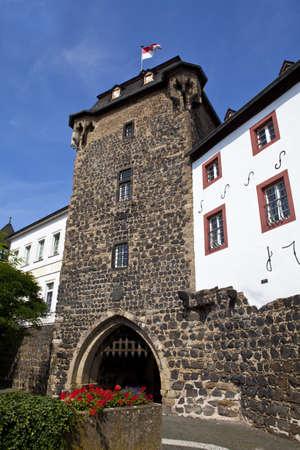 linz: Rheintor Gate in Linz am Rhein in Germany