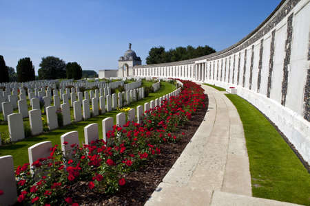 world war one: Tyne Cot Cemetery in Ypres, Belgium Stock Photo