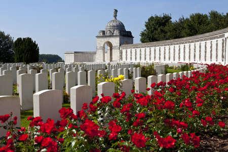 ypres: Tyne Cot Cemetery in Ypres, Belgium Stock Photo