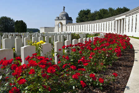 ypres: Tyne Cot Cemetery in Ypres, Belgium Stock Photo