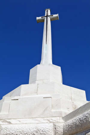 ypres: Cross of Sacrifice at Tyne Cot Cemetery in Ypres