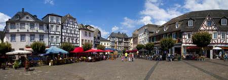 rhein: Town Square in Linz am Rhein in Germany
